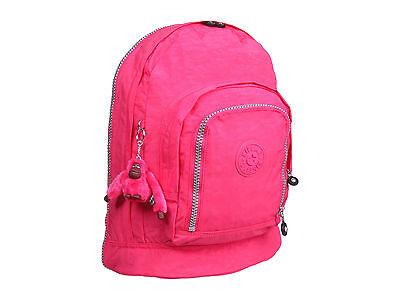 NWT Kipling HAL Hiker Expandable Backpack Vibrant Pink Large