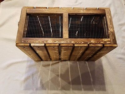 Pheasant Cage.1 UNIT=Dog Training.4 Transfer of live birds/MADE U.S.A. BY VET'S