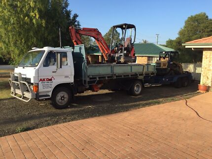 Excavations, bobcat, retaining walls, trenches, wet hire Wyreema Toowoomba Surrounds Preview