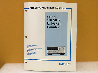 Hp Agilent 05316-90001 5316a Universal Counter Operating Service Manual
