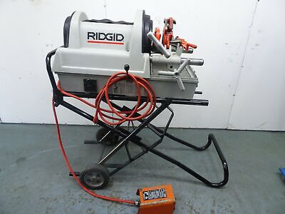 Ridgid 1822 Compact Auto Pipe Threader Rolling Cart 815a Die 1224 300 535