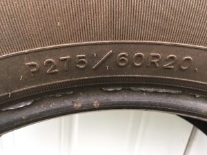 Used 275/60R20 Tires