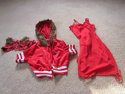 HALLOWEEN COSTUME LIL RED LITTLE RIDING HOOD SMALL ADULT TAIL JACKET EARS](Lil Red Costume)