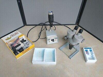 American Optical Spencer B-26-8 Ao Stereo Binocular Microscope W Tons Of Extras