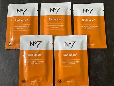 Boots No7 Hydrogel Eye Masks, 5 Treatments, Radiance+ Illuminating - Brand NEW