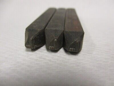 Letter L Machine Made Individual Steel Stamp 18 Character Height Lot Of 3 Pcs