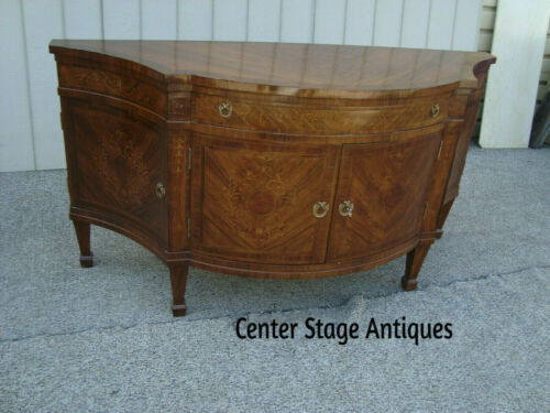 60434 Large Custom Hand Made  Inlaid Buffet Sideboard Server Cabinet