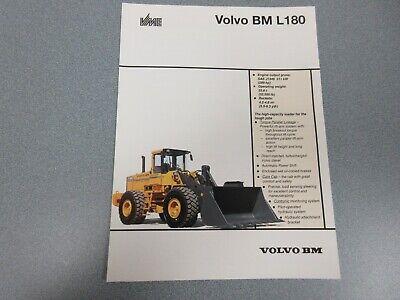 Volvo Bm L180 Wheel Loader Sales Brochure 6 Pages