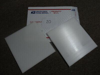 White Delrin Acetal Sheet Block Cnc Mill 2 Pieces20