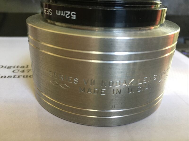 Kodak Series VII Seven Lens Hood and 52mm Camera Adapter