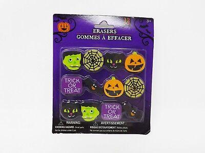 12 Piece Halloween Erasers  -- -