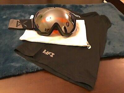 c5e43c62f12 Anon MIG MFI Ski Snowboard Goggles Magnetic Mask Silver Sonar Zeiss Lens