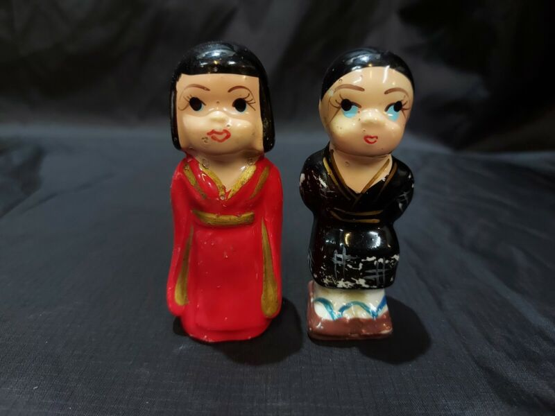 Vintage Collection Salt and Pepper Shakers Japan Man And Woman