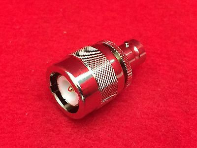 Bnc Female To C Male Ludlum Ug-636au Coaxial Connector Adapter Collins R-390a