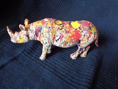 Rhino Street Art Pop Art Customise Design Per L Artist