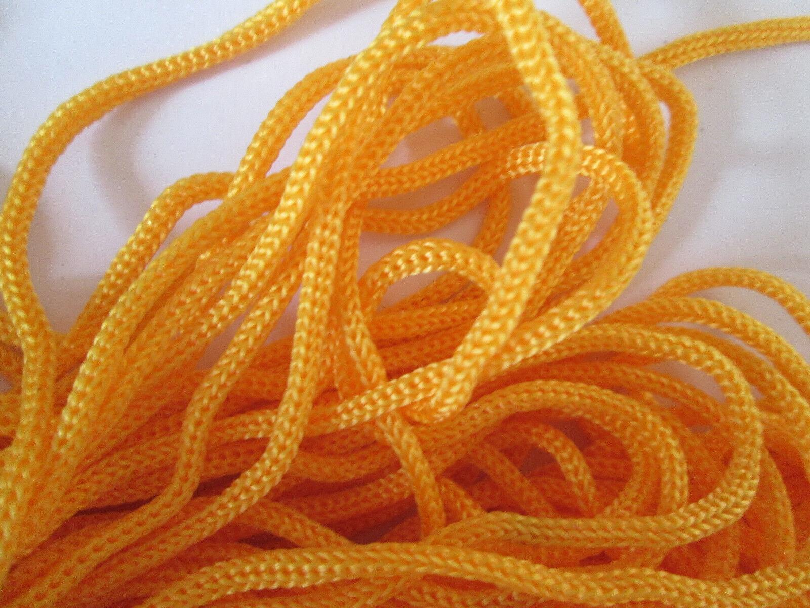 10 METER kordel Satin Hell Orange 3mm elegante Borte Spitze KR 011