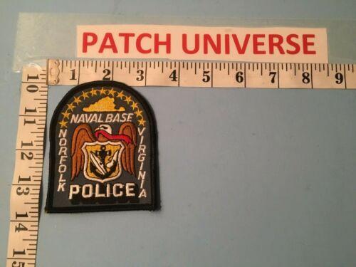NORFOLK NAVAL BASE VIRGINIA POLICE  SHOULDER PATCH  K122