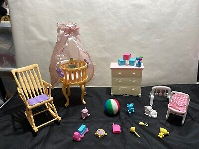 Barbie Baby Furniture/Bassinet Toys Lot Excellent Cond!!