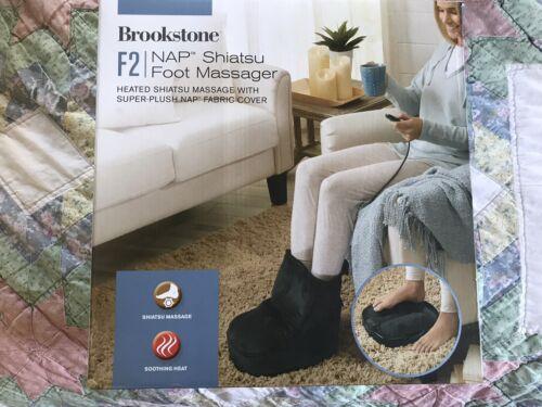 Brookstone F2 NAP Shiatsu Heated Foot Messager Super Plush F