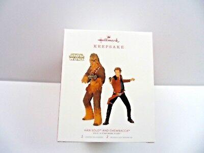 2018 Han Solo And Chewbacca Hallmark Ornament Star Wars - Chewbacca Ornament