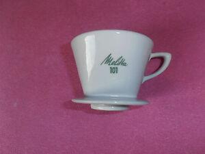 Alter Melitta Kaffeefilter 101 Porzellan 2 Loch grüne Schrift