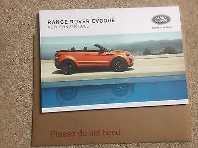 RANGE ROVER EVOQUE CONVERTIBLE UK SALES BROCHURE 2015. EXCELLENT FAST POST