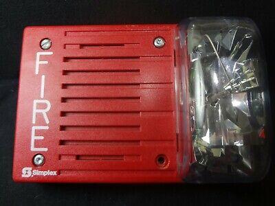 Simplex 4903-9238 24vdc 110cd Red Indoor Wall Mount Fire Alarm Horn Strobe