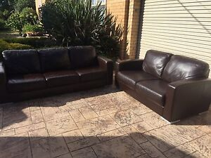 3 + 2 SEATER GAINSVILLE PREMIUM LEATHER COUCH / SOFA - THE PANDORA Brighton Bayside Area Preview