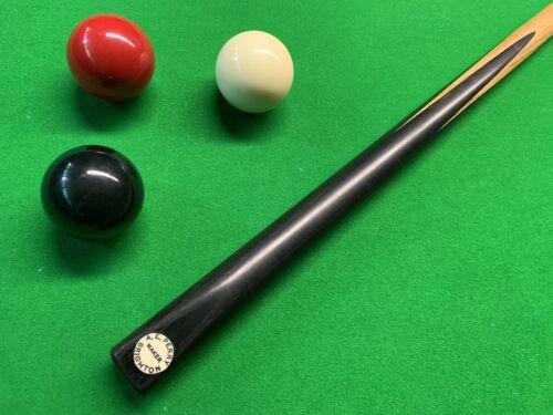 A E Perry Brighton Maker Snooker Pool Cue One Piece Black Ebony
