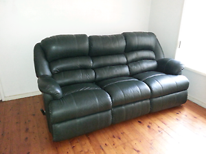 Three seater and two single seater reclining leather  lounge. Frenchs Forest Warringah Area Preview