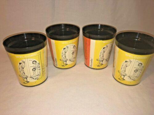 Vintage Electrolux vacuum Salesman plastic cups Set of 4 Mint