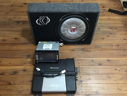 CAR STEREO CLARION DVD PIONEER AMP KICKER SUBWOOFER Morisset Lake Macquarie Area Preview