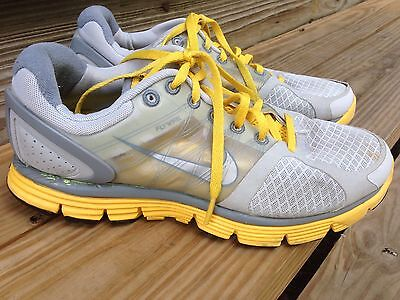 NIKE LIVESTRONG  Flywire Women's  Trainers shoes 408921-007  gray Yellow size 8