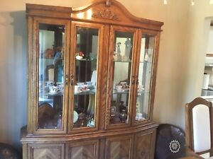Dining table with matching China buffet