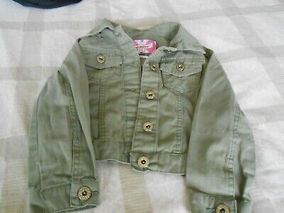 GIRLS GREEN COTTON FASHION JACKET AGE 5 by BLUE ZOO for sale  Shipping to Nigeria