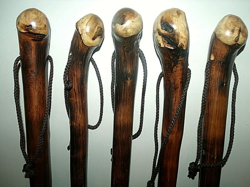 """Solid Chestnut Wood Trekking Walking Stick AID Cane Rustic Root Ball Stick 36""""✅"""
