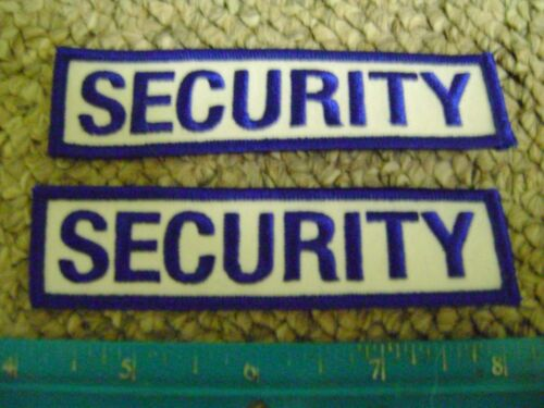 2 SECURITY PATCHES POLICE ENFORCEMENT GUARD OFFICER CONCERT EVENT PATCH BADGE