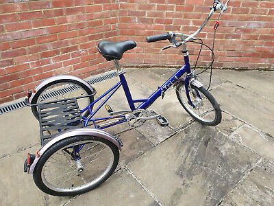 PASHLEY TRI 1 Adult Blue Folding Tricycle