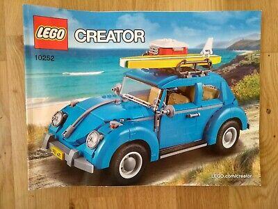 LEGO Creator Expert Volkswagen Beetle (10252) - 100% Complete with Manual