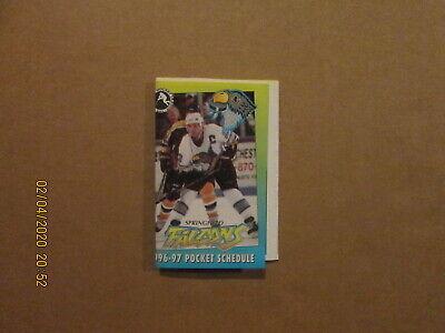 Multi-Sponsored Springfield Falcons 1994//95 AHL Minor Hockey Pocket Schedule