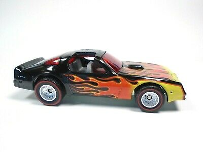 HOT WHEELS HOT BIRD REDLINE REAL RIDERS WHEELS CUSTOM BLACK TRANS AM DIECAST CAR