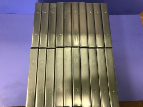 Package Of Twenty (20) Black With Full Sleeve Window VHS Plastic Cases. NEW