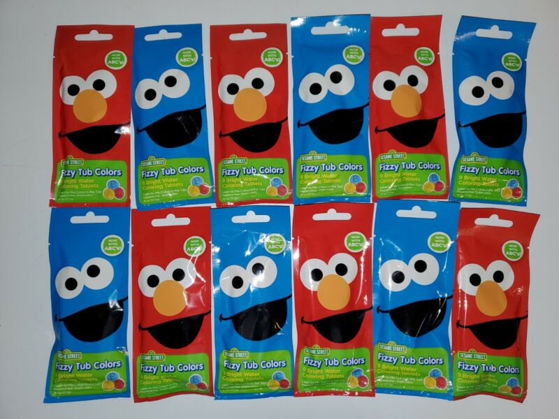 12 PACKS :: Sesame Street :: Fizzy Tub Colors :: (9 INCLUDED IN EACH)
