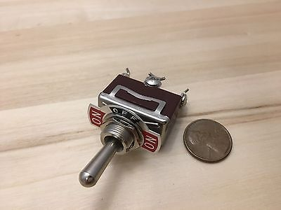 1 Piece - Red 3 Pin Momentary Toggle Switch Onoffon12v 125v Spring Return B5