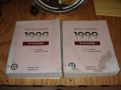 1999 CHEVY MONTE CARLO LUMINA SERVICE MANUAL SET SHOP BOOKS OEM REPAIR