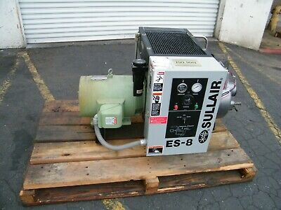 Sullair Es8 15 Hp Rotary Screw Air Compressor Ingersoll Rand Kaeser Quincy