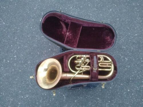 Vintage F. E. Olds and Son Ambassador Tuba? Baritone? Alto? Euphonium? w/ Case