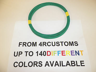 Green Automotive  Wire 20 Gauge High Temp Txl  25 Feet    Striped Available