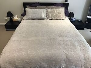Queen Size Bed. Incl: Frame, Mattress, Two Matching Bedside Tables Harrington Park Camden Area Preview