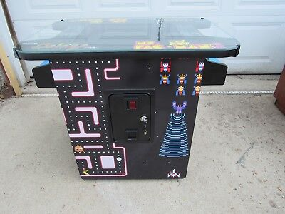 Commercial Classic coin op cocktail table arcade game Ms Pacman Galaga